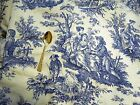 Waverly French Country Life Blue/Ivory Toile Fabric, 7.2 Yards of 54