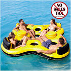 Inflatable Floating Island 4 Person Raft River Lake Pool Party Tube Ocean Water