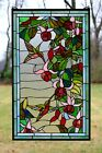 2025 x 34 Large Handcrafted stained glass window panel Hummingbirds  Flowers