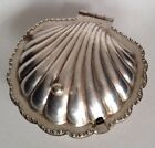 Cheltenham Silverplate Hinged Clam Shaped Serving Dish W/glass Insert. Lovely!