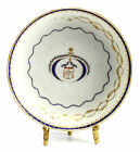 Chinese Export Porcelian Saucer, c1820 Hand Painted Gilt Armorial Hand Painted