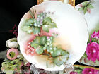 BAVARIA GERMANY HAND PAINTED CURRENTS AND LEAVES PLATE GERMAN
