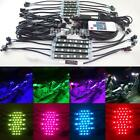 10pcs 7 Color RGB LED Knight Rider Ground Effect Light Kit For Motorcycle Bike