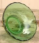 Vintage Green Glass Bowl Candy Dish E.O. BRODY CO USA Scalloped Edge #M2000