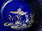 ART DECO VINTAGE 30s EMPIRE WARE BLUE EXOTIC BIRD LAKE SCENE BOWL