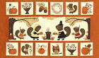 PERFECTLY SEASONED~ MODA  PANEL~SANDY GERVAIS~FALL~AUTUMN~PUMPKIN OWL SQUIRRELS