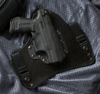 Walther P22 Black Leather Kydex Hybrid Gun Holster IWB Tuckable Concealment