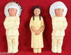 LOT of 3 Bakelite 1950s Native American Figures Indian Chief & Squaw 5