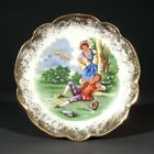 Vintage French LimogesMiniature Porcelain Plate,Courting Scene, Stamped