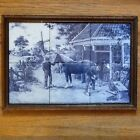 VTG. MOSA TILE FROM HOLLAND ( 6 ) AUTHENTIC HORSE & BLACKSMITH, WINDMILL COUNTRY