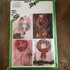 Holiday Wreath Pattern Christmas Thanksgiving Uncut Seasonal Simplicity 6615 Vtg