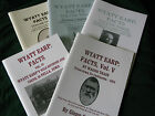Wild West Cowboy folklore Wyatt Earp Facts volumes 1 5 vg copies signed