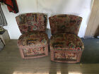 Pair 1960s Era Slipper Chairs Art Deco