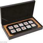 2014 AUSTRALIA $1 LUNAR YEAR OF THE HORSE COLORED PROOF SILVER TEN (10) COIN SET