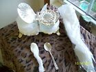 Silver Plate Plated HUGO Marmalade Glass Bread Basket  Pasta Server Spoon Table