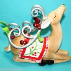 Fitz & Floyd Laying Deer Mingle Jingle Be Merry Christmas Decoration Holiday