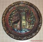 Vintage Fenton Carnival Glass Plate 1970 Christmas Little Brown Church in Vale