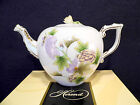 HEREND QUEEN VICTORIA ROYAL GARDEN TEAPOT,FOR SIX,WITH ROSE LID END