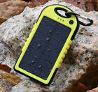 5000mAh NEW Power Bank Solar Fashion Dual USB Battery Charger 2yw For Cell Phone