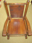 Antique Child's Wooden Rocking Chair