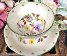 FOLEY TEA CUP AND SAUCER PAINTED FLORAL DECO PATTERN TEACUP