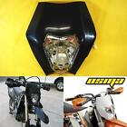 Universal Black Racing Motorcycle Headlight Fairing Streetfighter Enduro Cross