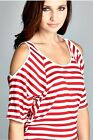 Womens Striped Adjustable Straps Tunic Long Cami Dress Camisole Top ST3013