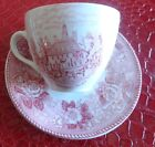Old Eng. Staffordshire Ware Jon Roth Alfred Meakin-Teacup & Saucer-Gov's Palace