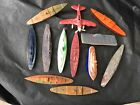 Vintage Lot Of (12) Bakelite? Plastic Ships Boats Toys Ideal Banner