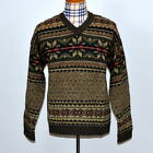 Abercrombie Fitch Mens 100 Wool Nordic Sweater Size XL Fiar Isle Thick Warm