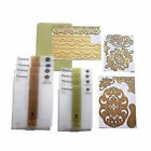 Anna Griffin Cutttlebug LACE TRIMMINGS Embossing Folders  Dies New