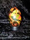 HAND PAINTED RUSSIAN LACQUERED WOOD EGG FAIRYTALE RUSALKA-MERMAID SIGNED