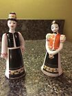 Hollohaza Figurines, Hungarian Boy and Girl in Traditional Matyo Costume