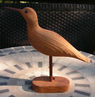 Carved Shore Bird with Stand Light Wood