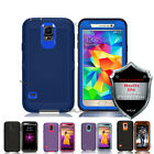 Heavy Duty Rugged Shockproof Case Samsung Galaxy S5 Cover With Screen Protector