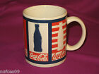 Official Coca-Cola coffee cup mug Gibson U.S.A. red white blue Coke drinking cup