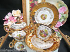 BAVARIA GERMANY TEA CUP AND SAUCER COURTING COUPLE PLUS EXTRA PIECES