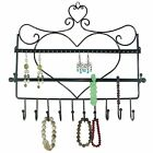 Wall Mount Heart Shape Jewelry Organizer Hanging Earring Holder Necklace New