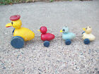 Vintage FISHER PRICE TOYS wood duck and ducklings pull toy 1940's ? Aurora NY