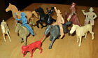 Vintage 1950's Cowboys & Horses & Indian Western Rubber & Plastic Toys USED