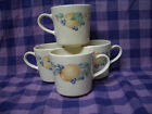 CORNING Corelle ABUNDANCE COFFEE TEA CUPS MUGS, Set of 4. Fruit Autumn Harvest