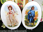 VINTAGE LITTLE BOY BLUE & BOW PEEP PORCELAIN PLATES PLAQUES