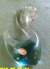 VINTAGE MADE IN ITALY MURANO VENEZIA ART GLASS  BLUE SWAN WITH STICKER