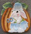 Fitz & Floyd 2004 Halloween Bunny Blooms Decorative Fall Plate. Super Cute!