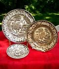 3 PIECE-Antique England Staffordshire Carsons Plate brown Transferware