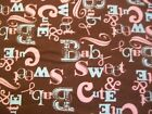 Sweet and Cute Baby Snuggle Flannel Fabric BTY Pink Blue  Brown