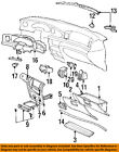 Lincoln FORD OEM 95-97 Continental Instrument Panel Dash-Hinge F5LY6306050A