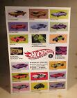 Vintage Mattel 1967 Redline HOT WHEELS Display Posters 2 With ORIGINAL AD ART