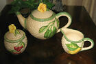 5pc Tea Set Fitz &Floyd Omnibus China Vegetable Garden Teapot Sugar Bowl Creamer