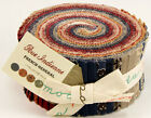 40-2.5 INCH STRIPS~RUE INDIENNE~MODA FABRIC~JELLY ROLL~FRENCH GENERAL